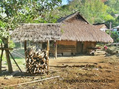 This is a traditional Loatian home in the rural area of Kuangsi, Laos.