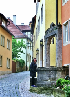 Rothenburg is a well-preserved medieval town in the region known as Bavaria, Germany
