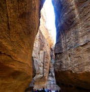 The Siq – the ancient main entrance leading to the city of Petra